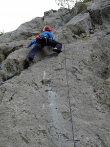 Tom on the tricky part of Interdit aux velos, Calames