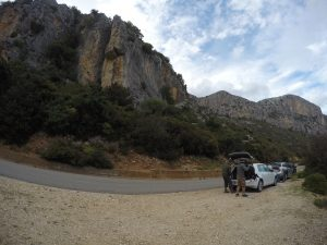 Convenient Parking on the road to Pedra Longa