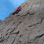 Tom on the shear faces at Gull Rock